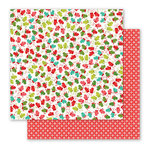 Pebbles - Holly Jolly Collection - Christmas - 12 x 12 Double Sided Paper - Mittens