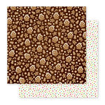 Pebbles - Holly Jolly Collection - Christmas - 12 x 12 Double Sided Paper - Gingerbread