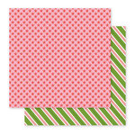 Pebbles - Holly Jolly Collection - Christmas - 12 x 12 Double Sided Paper - Peppermints