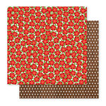 Pebbles - Holly Jolly Collection - Christmas - 12 x 12 Double Sided Paper - Poinsettias