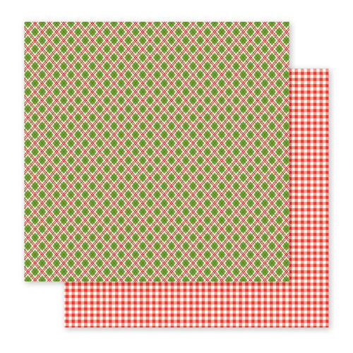 Pebbles - Holly Jolly Collection - Christmas - 12 x 12 Double Sided Paper - Christmas Plaid