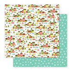 Pebbles - Holly Jolly Collection - Christmas - 12 x 12 Double Sided Paper - Holliday Village