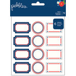 Pebbles - America the Beautiful Collection - Cardstock Stickers - Labels