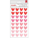 Pebbles - My Funny Valentine Collection - Puffy Stickers - Hearts