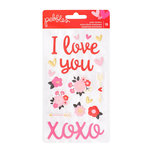 Pebbles - My Funny Valentine Collection - Puffy Stickers - Phrases and Icons