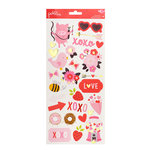 Pebbles - My Funny Valentine Collection - Cardstock Stickers - Icons