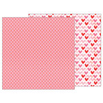 Pebbles - My Funny Valentine Collection - 12 x 12 Double Sided Paper - XOXO