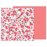 Pebbles - My Funny Valentine Collection - 12 x 12 Double Sided Paper - Pretty in Pink