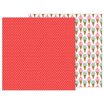 Pebbles - My Funny Valentine Collection - 12 x 12 Double Sided Paper - Candy Dots