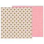 Pebbles - My Funny Valentine Collection - 12 x 12 Double Sided Paper - Donut Sprinkles