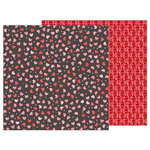 Pebbles - My Funny Valentine Collection - 12 x 12 Double Sided Paper - Scattered Hearts