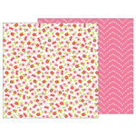 Pebbles - My Funny Valentine Collection - 12 x 12 Double Sided Paper - Beautiful Day