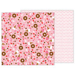 Pebbles - My Funny Valentine Collection - 12 x 12 Double Sided Paper - Sweet Treats