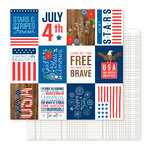 Pebbles - America the Beautiful Collection - 12 x 12 Double Sided Paper - Happy 4th of July