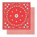 Pebbles - America the Beautiful Collection - 12 x 12 Double Sided Paper - Bandana