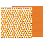 Pebbles - Trick or Treat Collection - Halloween - 12 x 12 Double Sided Paper - Jack O Lantern
