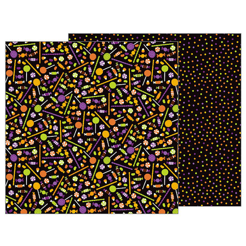 Pebbles - Trick or Treat Collection - Halloween - 12 x 12 Double Sided Paper - Trick Or Treat