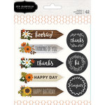 Pebbles - Warm and Cozy Collection - Cardstock Stickers