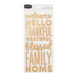 Pebbles - Warm and Cozy Collection - Cardstock Stickers with Foil Accents - Word