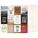 Pebbles - Warm and Cozy Collection - 12 x 12 Double Sided Paper - Warm Quotes