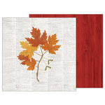 Pebbles - Warm and Cozy Collection - 12 x 12 Double Sided Paper - Fall Botanical