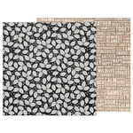 Pebbles - Warm and Cozy Collection - 12 x 12 Double Sided Paper - Leaf Toss