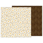 Pebbles - Warm and Cozy Collection - 12 x 12 Double Sided Paper - Daisy