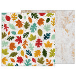 Pebbles - Warm and Cozy Collection - 12 x 12 Double Sided Paper - Fallen Leaves