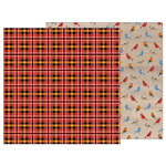 Pebbles - Warm and Cozy Collection - 12 x 12 Double Sided Paper - Tartan