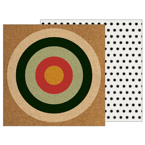 Pebbles - Warm and Cozy Collection - 12 x 12 Double Sided Paper - On Target