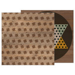 Pebbles - Warm and Cozy Collection - 12 x 12 Double Sided Paper - Star Mosaic