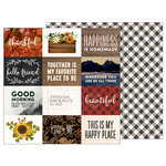 Pebbles - Warm and Cozy Collection - 12 x 12 Double Sided Paper - Cozy Quotes