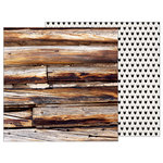 Pebbles - Warm and Cozy Collection - 12 x 12 Double Sided Paper - Log Cabin