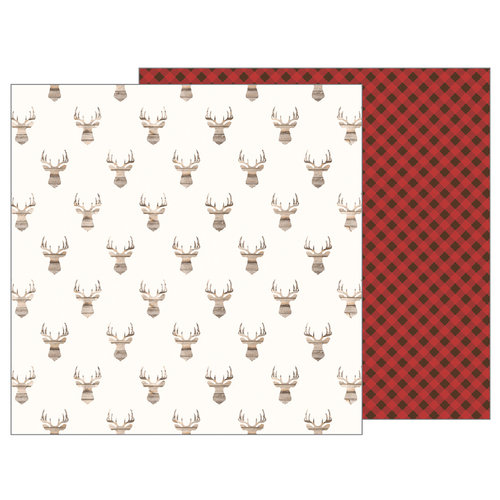 Pebbles - Warm and Cozy Collection - 12 x 12 Double Sided Paper - Antlers