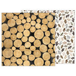 Pebbles - Warm and Cozy Collection - 12 x 12 Double Sided Paper - Logs