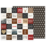 Pebbles - Warm and Cozy Collection - 12 x 12 Double Sided Paper - Cozy Sentiments