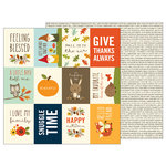 Pebbles - Woodland Forest Collection - 12 x 12 Double Sided Paper - Happy Autumn