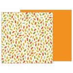 Pebbles - Woodland Forest Collection - 12 x 12 Double Sided Paper - Leaf Toss
