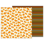 Pebbles - Woodland Forest Collection - 12 x 12 Double Sided Paper - Pumpkin Patch