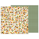 Pebbles - Woodland Forest Collection - 12 x 12 Double Sided Paper - Autumn Day