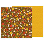 Pebbles - Woodland Forest Collection - 12 x 12 Double Sided Paper - Fall Florals