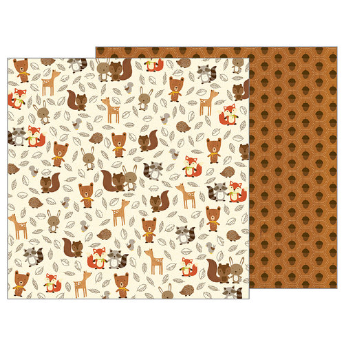 Pebbles - Woodland Forest Collection - 12 x 12 Double Sided Paper - Woodland Critters