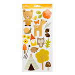 Pebbles - Woodland Forest Collection - Cardstock Stickers - Icons