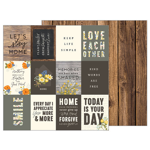 Pebbles - Simple Life Collection - 12 x 12 Double Sided Paper - Simple Words