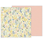 Pebbles - Simple Life Collection - 12 x 12 Double Sided Paper - Wildflowers