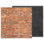 Pebbles - Simple Life Collection - 12 x 12 Double Sided Paper - Bricks
