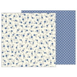 Pebbles - Simple Life Collection - 12 x 12 Double Sided Paper - Blue Meadow