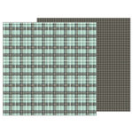 Pebbles - Simple Life Collection - 12 x 12 Double Sided Paper - Perfect Plaid