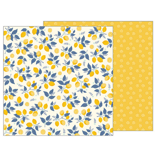 Pebbles - Simple Life Collection - 12 x 12 Double Sided Paper - Sweet Citrus