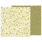 Pebbles - Simple Life Collection - 12 x 12 Double Sided Paper - Leafy Sprigs